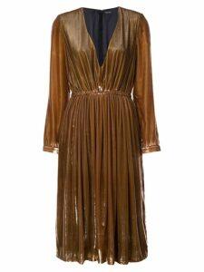 Adam Lippes V-neck dress - Brown