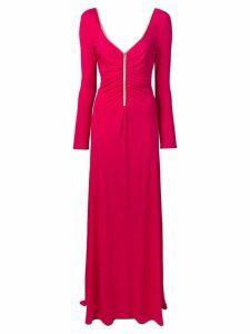 Emilio Pucci Pink Swarovski Crystal Embroidered Long Dress