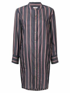 Isabel Marant Étoile striped collarless shirt dress - Grey
