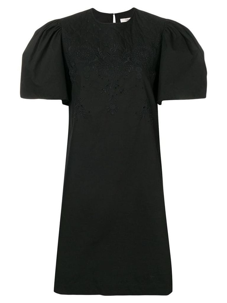 Isabel Marant Étoile open embroidery mini dress - Black