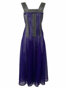 Christopher Kane crystal mesh dress - Purple