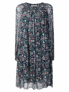Isabel Marant Étoile geometric long-sleeve flared dress - Black