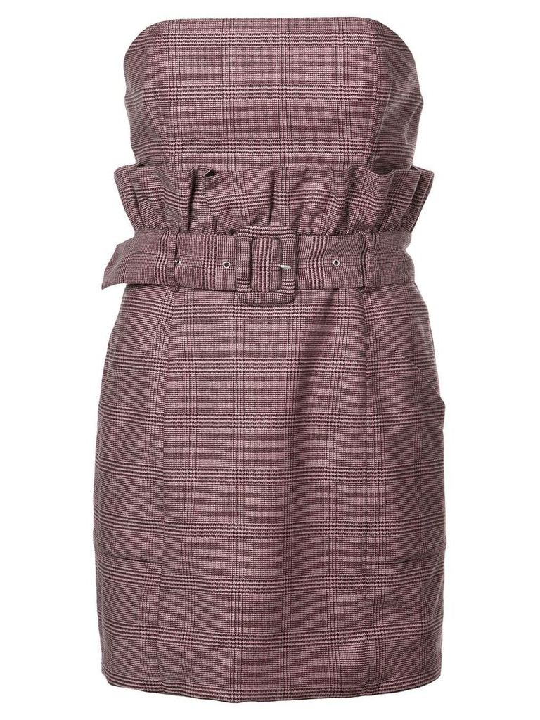Fleur Du Mal paperbag dress - Purple