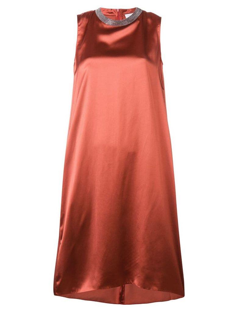 Fabiana Filippi embellished neck midi dress - Red