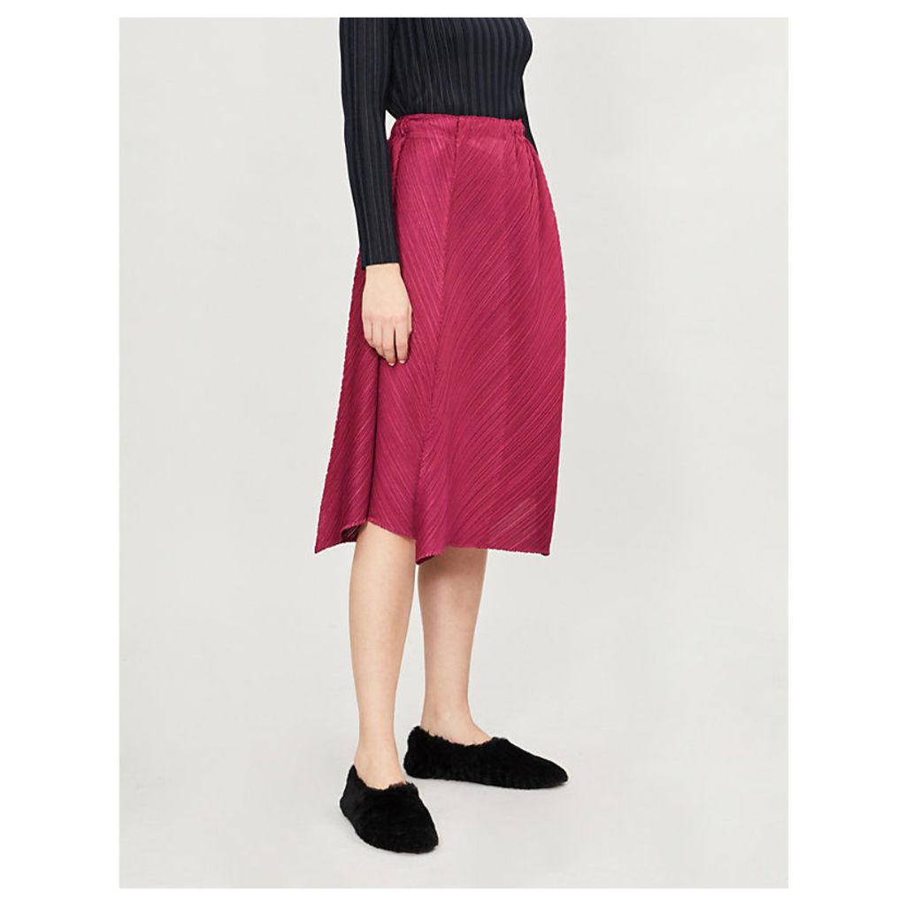 Flow pleated midi skirt