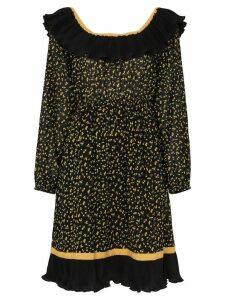 byTiMo Bardot ruffled trim dress - Black