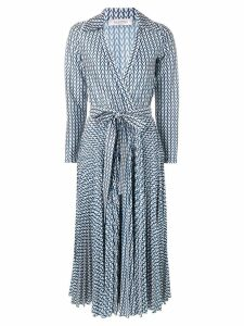 Valentino printed belted dress - Blue