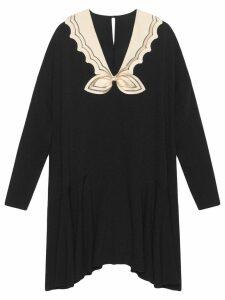 Gucci Short sablé dress - Black