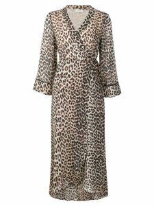 Ganni Mullin georgette dress - Brown