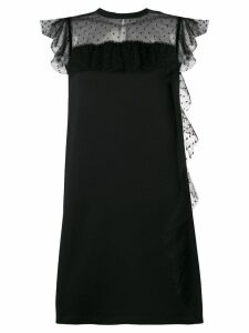 Red Valentino tulle detail dress - Black