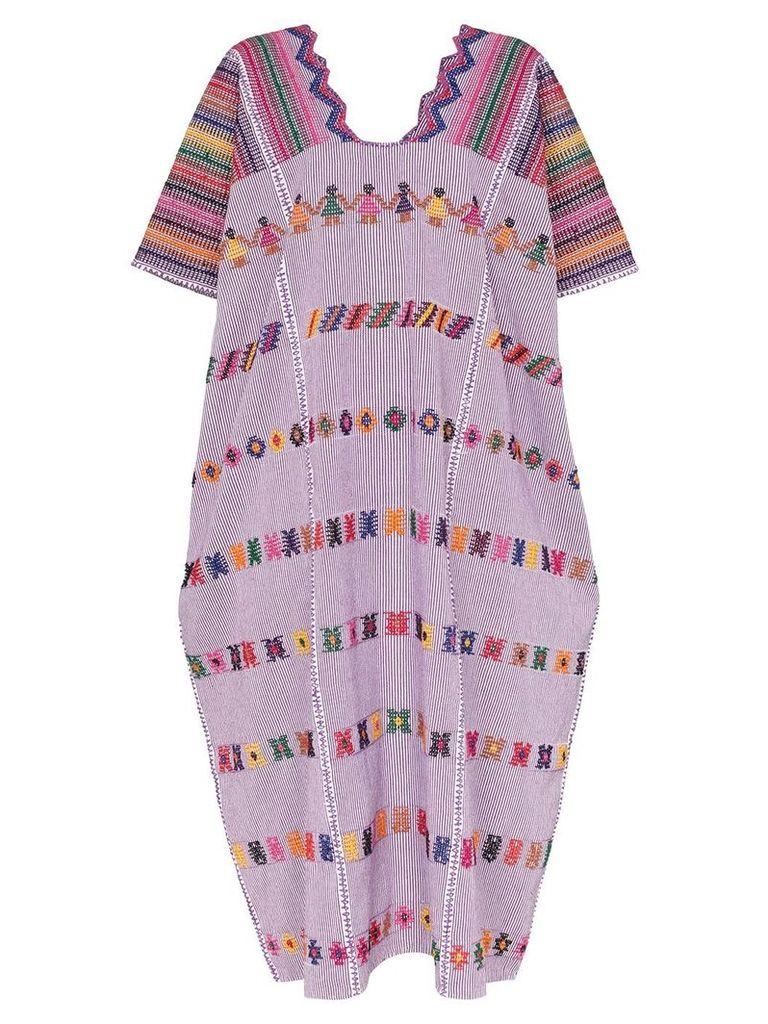 Pippa Holt embroidered kaftan dress - 108 - Multicoloured