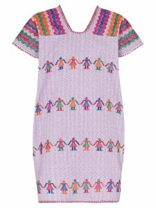 Pippa Holt embroidered kaftan mini dress - 108 - Multicoloured