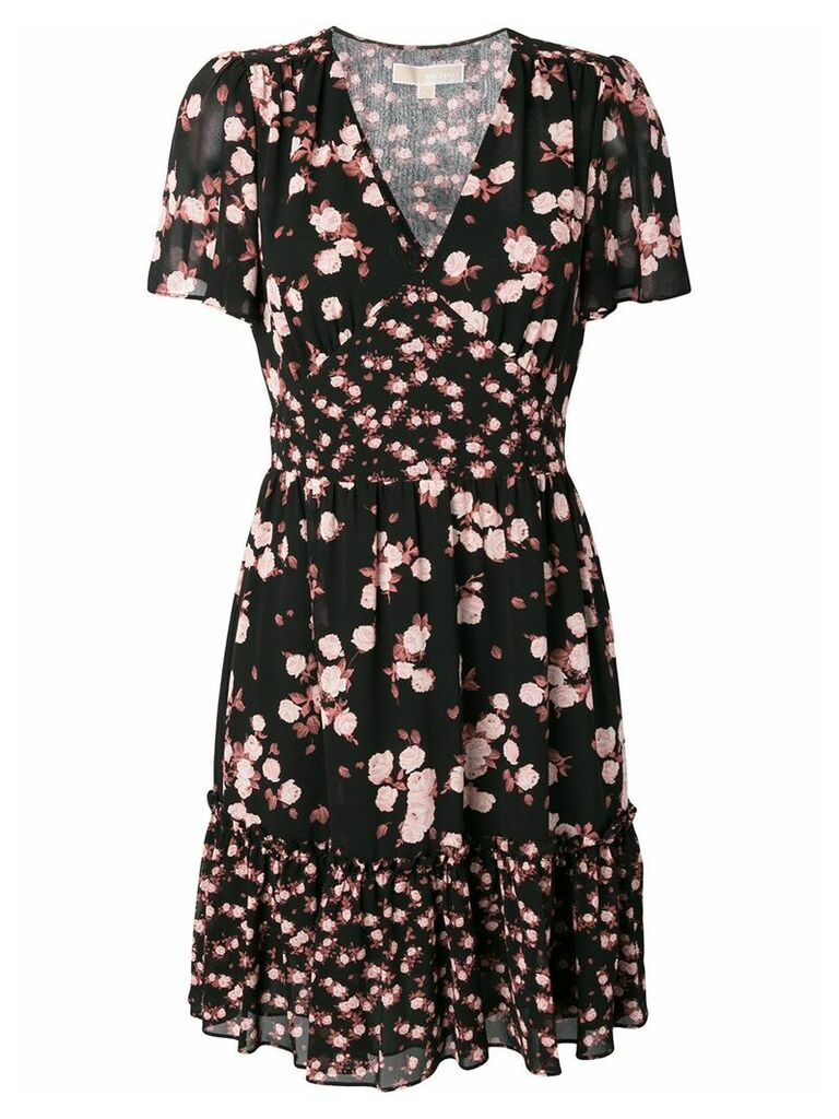 Michael Michael Kors rose print dress - Black