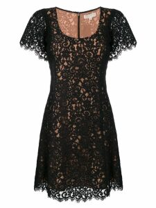 Michael Michael Kors shortsleeved lace dress - Black