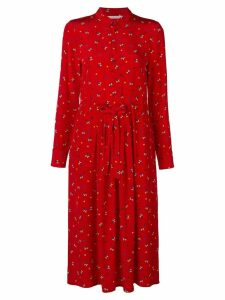 Chinti & Parker floral long-sleeve midi dress - Red