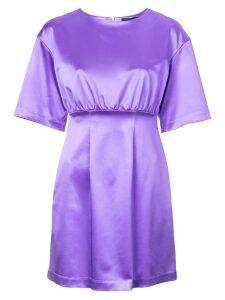 Cynthia Rowley Rush Satin Mini Dress - PURPLE