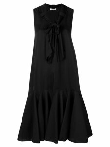 JW Anderson exaggerated hem dress with bow detail - Black