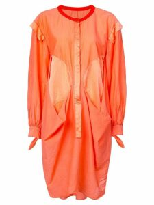 Tsumori Chisato deconstructed shirt dress - Orange