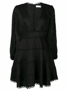 Zimmermann Heathers flounce mini dress - Black