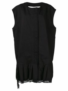 Mm6 Maison Margiela zipped waistcoat dress - Black