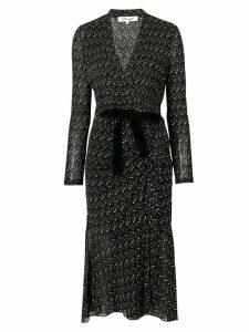 Dvf Diane Von Furstenberg dot-print wrap dress - Black