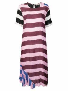 Preen Line striped oversized T-shirt dress - Pink