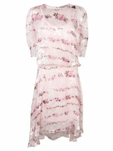 Preen By Thornton Bregazzi petal print dress - Pink