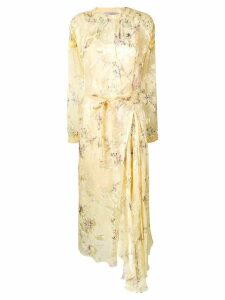 Preen By Thornton Bregazzi floral print belted dress - Yellow