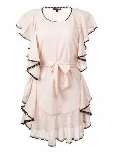 Morgan Lane Delphine ruffle dress - Pink