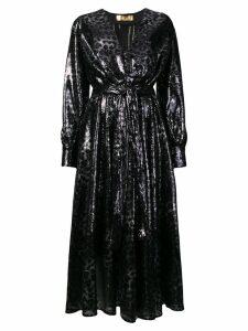 MSGM textured leopard print dress - Black