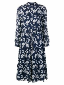 Michael Michael Kors floral print shirt dress - Blue