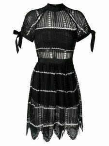Self-Portrait mesh knit dress - Black