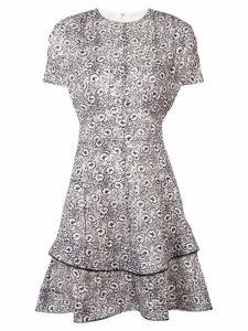 Derek Lam 10 Crosby Floral Print Silk-Blend Jacquard Dress - White