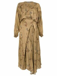 Preen By Thornton Bregazzi floral print maxi dress - Brown
