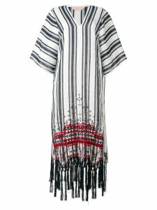 Tory Burch striped kaftan dress - Blue