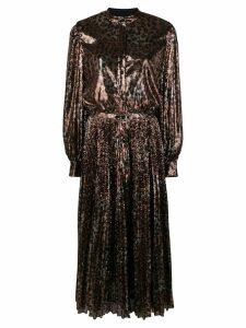 MSGM leopard print sequin dress - Gold