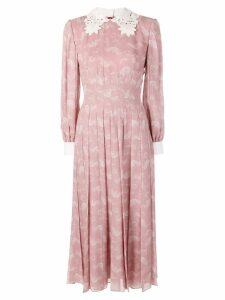 Fendi pleated longsleeved dress - Pink