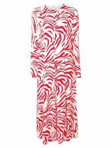 MSGM zebra print long dress - White