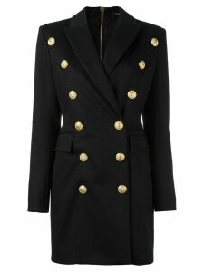 Balmain double breasted jacket dress - Black