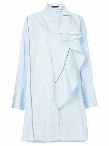 Ellery Metrica Drape Front Dress - Blue
