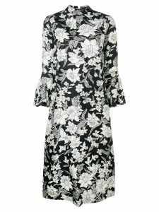 La Doublej floral print flared dress - Black