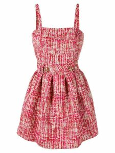 Philipp Plein mini tweed dress - Red