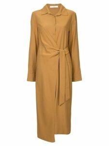 Tibi wrap front shirt dress - Brown