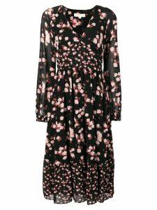 Michael Michael Kors floral long-sleeve dress - Black
