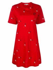 McQ Alexander McQueen Swallow twins T-shirt dress - Red