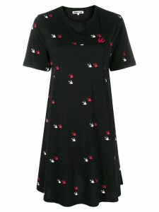 McQ Alexander McQueen Swallow twins T-shirt dress - Black