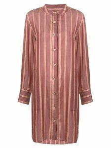 Isabel Marant Étoile striped collarless shirt dress - Red