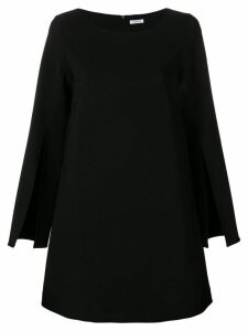 P.A.R.O.S.H. slit sleeve A-line dress - Black