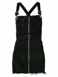 Re/Done zipped denim dunagaree dress - Black