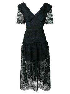 Self-Portrait lace long dress - Blue